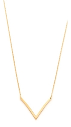 Jennifer Zeuner Jewelry Bianca Small Necklace Gold