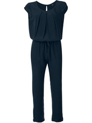 Woolrich Belted Jumpsuit Blue