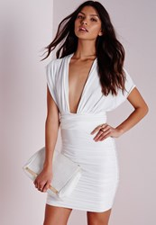 Missguided Do It Any Way Multiway Slinky Bodycon Dress White