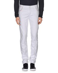 Jeans Les Copains Denim Denim Trousers Men White