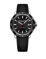 Raymond Weil Tango 300 Round Rubber Strap Analog Watch Black