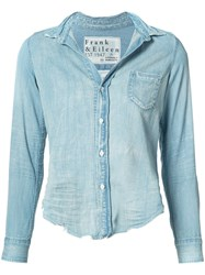 Citizens Of Humanity Chambray Shirt Women Cotton M Blue