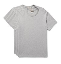 Visvim Three Pack Cotton Jersey T Shirts Gray