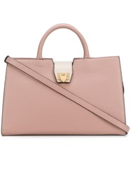 Philippe Model Top Handle Tote Bag Pink And Purple