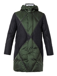 Moncler Gamme Bleu Quilted Wool Panel Down Parka