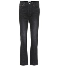 Balenciaga Straight Leg Cotton Jeans Black