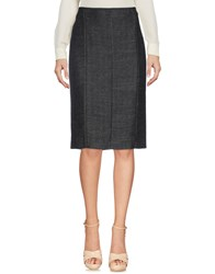 Aspesi Knee Length Skirts Steel Grey