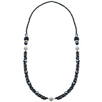 Martick Murano Glass Multi Way Necklace Midnight Blue
