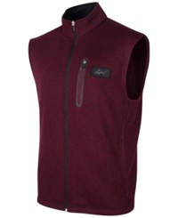Greg Norman For Tasso Elba Heathered Zip Vest Only At Macy's Port
