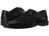 Stacy Adams Arturo Leather Sole Wingtip Oxford Black Men's Lace Up Wing Tip Shoes