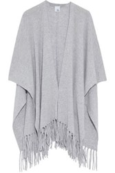 Iris And Ink Francis Fringed Cashmere Wrap Gray