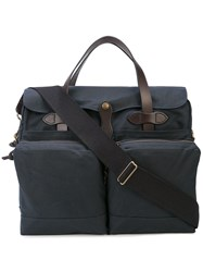 Filson 24 Hour Tin Cloth Briefcase Blue