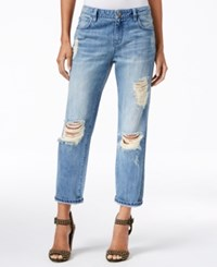 Rachel Roy Ripped Babylon Wash Wash Straight Leg Jeans Only At Macy's