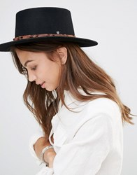 Brixton Matador Felt Hat With Contract Leather Band Black
