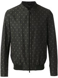 Fendi Embroidered Bomber Jacket Green