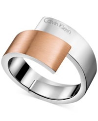 Calvin Klein Two Tone Bypass Ring Two Tone