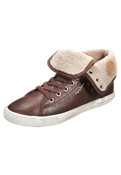 Pepe Jeans Macclain Hightop Trainers Dark Brown