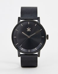 Adidas Z04 District Leather Watch In Black
