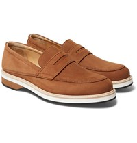 Want Les Essentiels Marcos Suede Penny Loafers Brown
