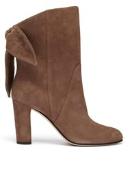 Jimmy Choo Marlene 85 Suede Ankle Boots Light Brown