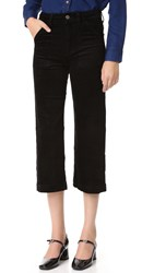 7 For All Mankind Culotte Corduroys Black