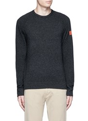 James Perse Graphic Intarsia Cashmere Sweater Grey