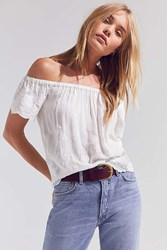 Angie Embroidered Off The Shoulder Top White