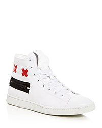 Marc Jacobs Zip Face High Top Sneakers White