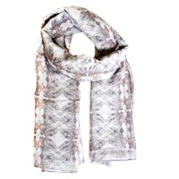 Alexandra Taylor Scarves To Fight Malaria Pale Grey Silk Cotton Scarf