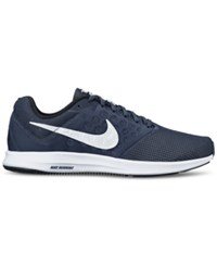 Nike Men's Downshifter 7 Wide Running Sneakers From Finish Line Midnight Navy White Dk Ob