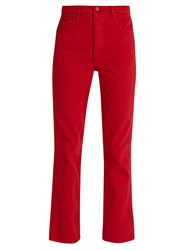 Bliss And Mischief Collector Fit High Rise Jeans Red