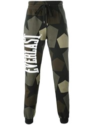 Ports 1961 Camouflage Print Track Pants Green