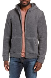 Michael Bastian Regular Fit Polartec Fleece Hoodie Steel Gray