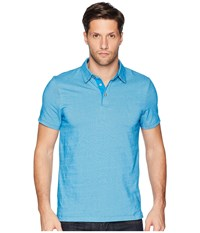 Perry Ellis Dotted Stripe Jacquard Polo Turkish Tile Clothing Blue