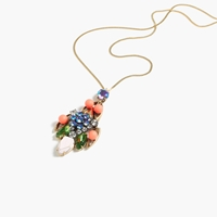 J.Crew Midsummer Pendant Necklace Neon Persimmon