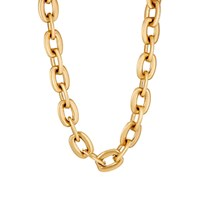 Sidney Garber Women's Squared Oval Link Chain Gold