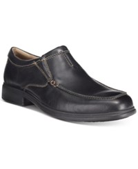 Bostonian Men's Tifton Step Loafers Men's Shoes Black Leather