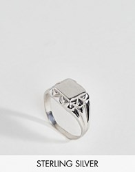 Asos Sterling Silver Sovereign Ring Silver