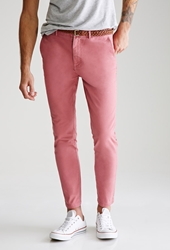 Forever 21 Classic Belted Chinos Faded Rose