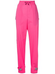 Off White Elasticated Waist Jogging Pants Pink