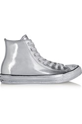 Converse Chuck Taylor All Star Chrome Metallic Leather High Top Sneakers
