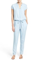 Women's Rd Style Split Neck Chambray Jumpsuit
