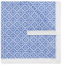 Anderson And Sheppard Printed Cotton Pocket Square Blue