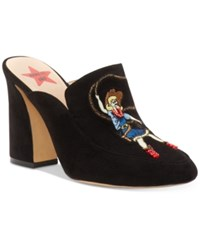 Inc International Concepts Anna Sui X Maddiee Mules Created For Macy's Women's Shoes Black