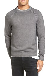 Vince Men's Wool And Cashmere Raglan Crewneck Sweater Smoked Grey