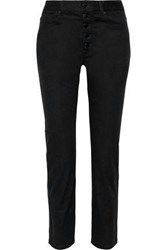 Joseph Woman Den High Rise Slim Leg Jeans Black