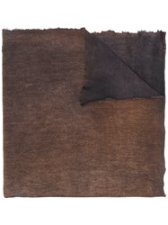 Avant Toi Patterned Scarf Brown