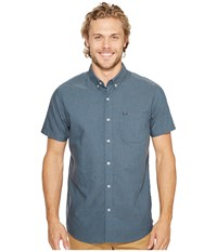 Rip Curl Ourtime Short Sleeve Shirt Slate Blue 1 Men's Clothing