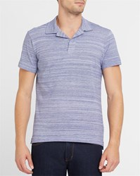 Orlebar Brown Blue Felix Striped Polo Shirt