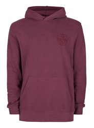 Topman Purple Embroidered Detail Classic Fit Hoodie